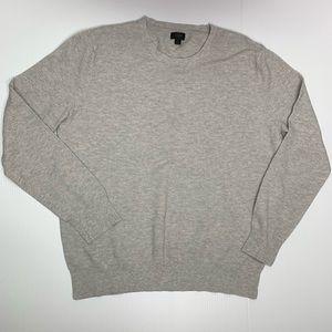 J Crew Sweater Large Crewneck Cotton & Cashmere